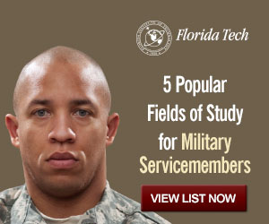 Florida Tech University Online 5 popular fields of study for military service members